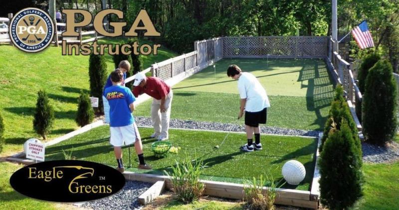 PGA training facility, chip, bump and run
